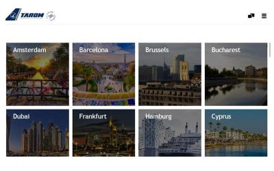 TAROM & PXCom's interactive destination guides