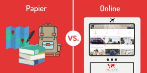 papier online Vergleichung zwischen Papier und Online Reiseführer
