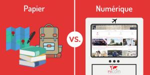 guides touristiques numériques papier digital vs