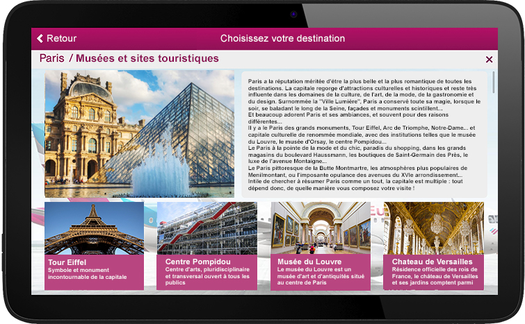 1. Your page on the digital touristic guide