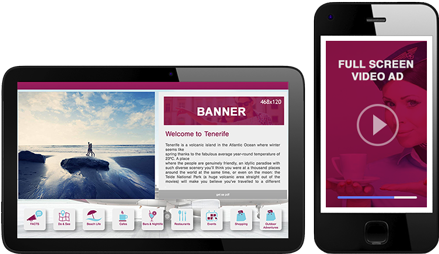 digital inflight advertising: banners and video