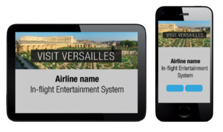 Banner ads inflight IFE seatback screens and mobiles