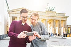 city destination guide inflight digital advertising Berlin