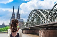 city destination guide inflight digital advertising Cologne