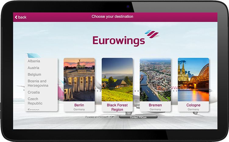 eurowings digital inflight advertising IFE