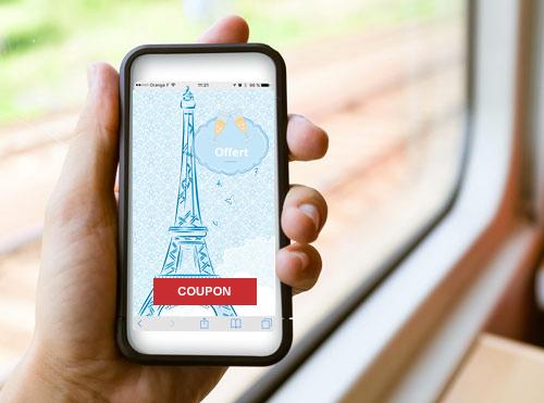 Comment faire connaitre son restaurant avec la publicité dans les avions. un call to action redirige les passagers arrivant sur votre destination chez vous.