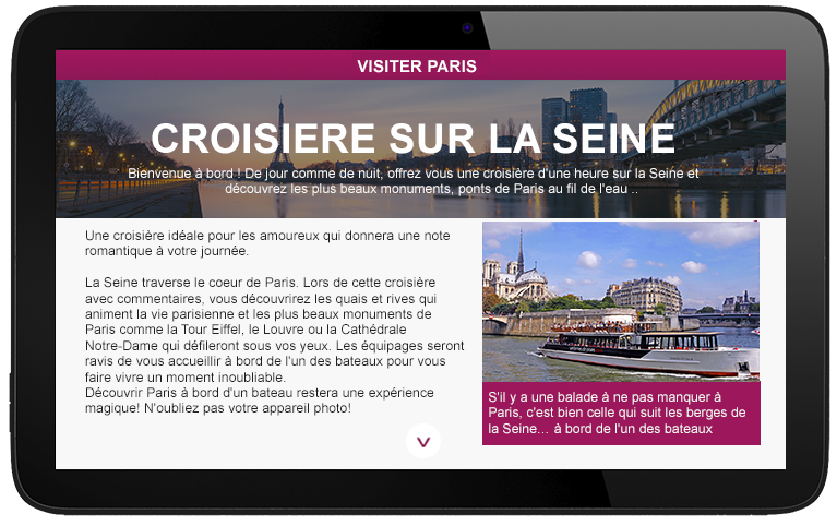 3. A microsite dedicated at to your guided tours