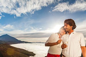 publicidad en aerolíneas rumbo a Tenerife, Islas Canarias