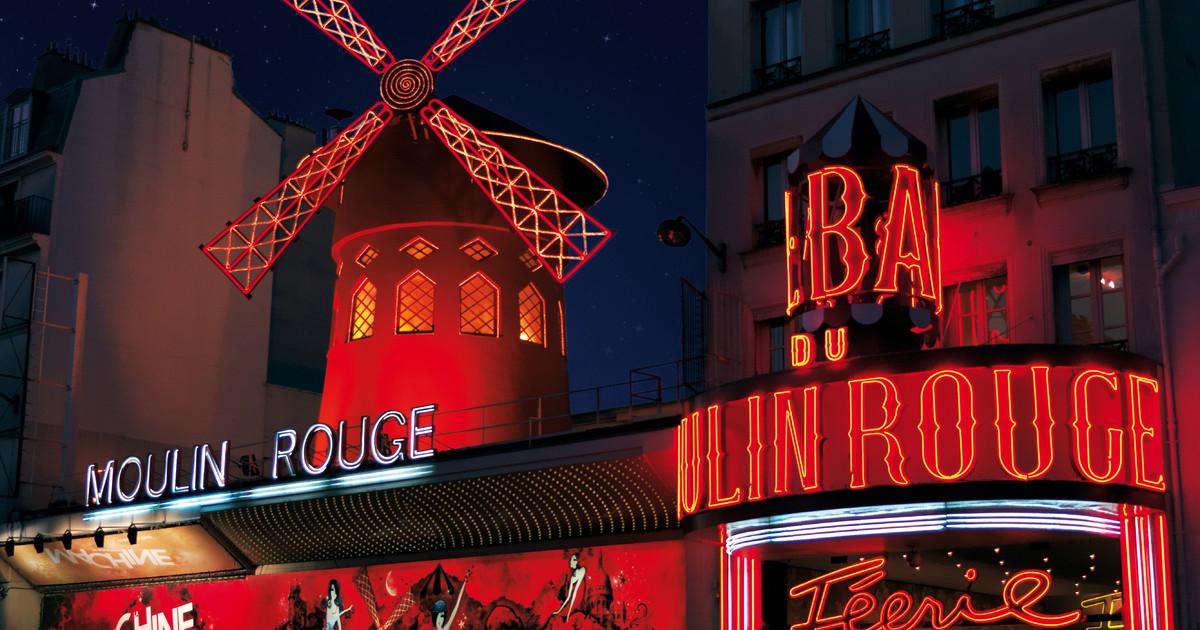 Publicité digitale In-Flight dans les avions du Moulin Rouge
